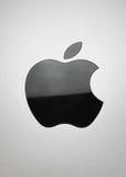 The black Apple Royalty Free Stock Photos