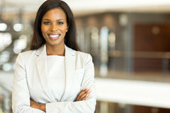 Black business executive Royalty Free Stock Images