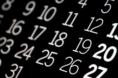 Black Calendar Royalty Free Stock Images