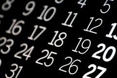 Black Calendar Royalty Free Stock Images