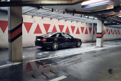 Black car in the garage, BMW E46 Coupe Royalty Free Stock Photography