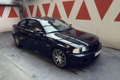 Black car in the garage, BMW E46 Coupe Stock Photography