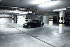 Black car in the garage, BMW E46 Coupe Royalty Free Stock Image