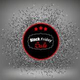 Black Friday klistermärke och konfettier Royaltyfria Foton