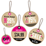 Black Friday Retail Labels Stock Photography