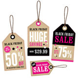Black Friday Retail Labels Stock Photos