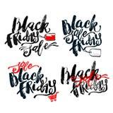 Black Friday sale hand lettering banner. Stock Image