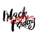 Black Friday sale hand lettering banner. Stock Photos