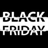 Black Friday sprzedaży plakat sztandaru czarny Piątek sprzedaż Zdjęcie Stock