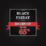Black Friday sprzedaży sztandaru Wektorowy projekt Obrazy Stock