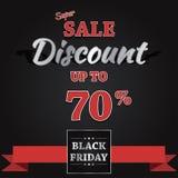 Black Friday sprzedaży sztandaru Wektorowy projekt Zdjęcie Royalty Free