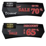 Black Friday sprzedaży sztandaru Wektorowy projekt Zdjęcie Stock