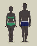 Black man and woman bodies Stock Photo