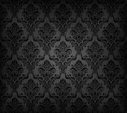 Black seamless wallpaper pattern Stock Images
