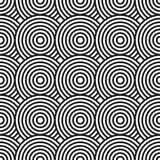 Black-and-white abstract background with circles Royalty Free Stock Image