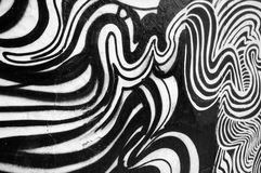 Black and white abstract painting Stock Photos