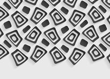 Black and white geometric pattern abstract background template Royalty Free Stock Images