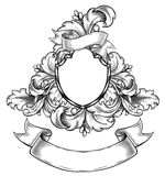 Black and white  insignia Royalty Free Stock Photo