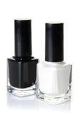Black and white nail varnish Stock Image