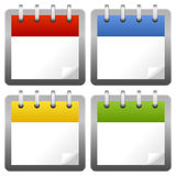 Blank Calendar Icons Set Royalty Free Stock Photo