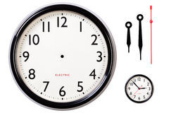 Blank clock face and hands Stock Photography