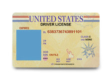 Blank Driver License Stock Photo