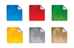 Blank grunge sticker icons Stock Image