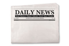 Blank Daily Newspaper Stock Photography