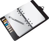 Blank notebook planner Stock Photos