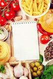 Blank recipe book Royalty Free Stock Image