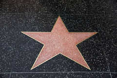 A blank star in Hollywood Walk of Fame