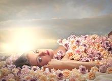 Blanket of flowers Stock Image