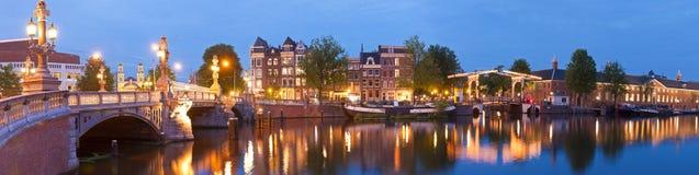 Blauwbrug, Amsterdam Stock Afbeeldingen
