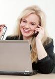 Blond attractive caucasian businesswoman Stock Photography