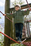 Blond boy at playground Royalty Free Stock Image