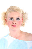 Blond woman looking surprised Royalty Free Stock Image