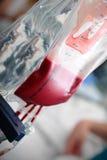Blood dose transfusion Stock Photo