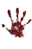 Blood hand print Royalty Free Stock Photos
