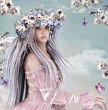 Blossom girl Royalty Free Stock Photos