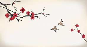 Blossom painting Royalty Free Stock Image