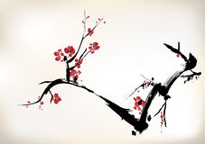 Blossom painting Stock Image