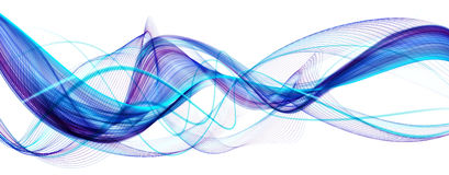 Blue abstract modern wavy background Stock Photography
