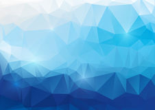 Blue abstract polygonal background Stock Photo