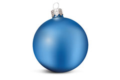 Blue Christmas decoration ball Royalty Free Stock Photos
