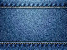 Blue denim texture background Royalty Free Stock Photos