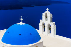 Blue Dome Church Stock Image