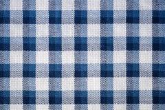 Blue gingham cloth closeup Stock Image