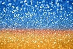 Blue Gold Glitter Stock Photo