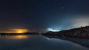 The Blue Lagoon on a calm night Stock Image