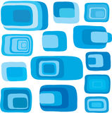 Blue retro squares vector Stock Photography